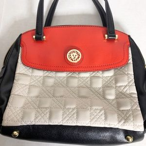 Anne Klein AK colorblock satchel handbag